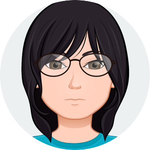 animated headshot of Cindy Tong wearing glasses and a blue shirt